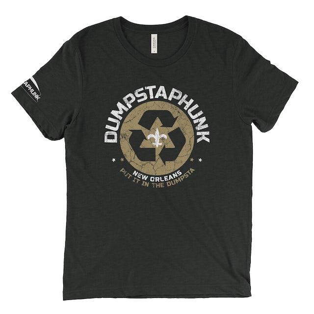 Dumpstaphunk Recycle Logo - Black & Gold