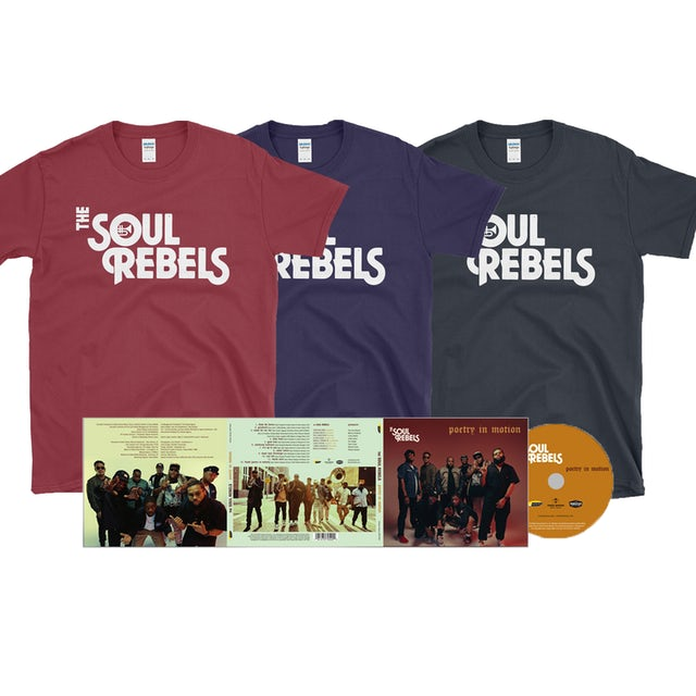 Soul Rebels Poetry In Motion CD + Shirt Bundle