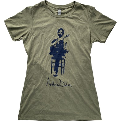 Andrew Duhon Ladies Silhouette Shirt- Olive Green
