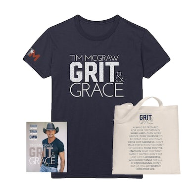 Tim McGraw Grit & Grace Book + Tee + Tote Bag