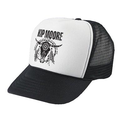 Kip Moore Black & White Bull Trucker Hat