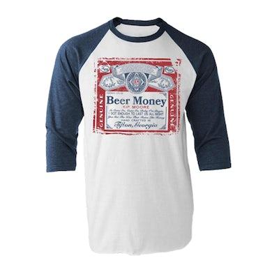 Kip Moore Beer Money Raglan - Navy/White