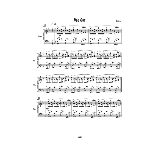 Masego Veg Out Sheet Music