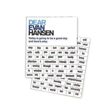 DEAR EVAN HANSEN Poetry Magnet Set