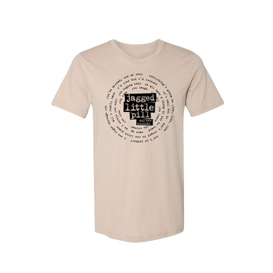 JAGGED LITTLE PILL Circle Lyrics Beige Tee