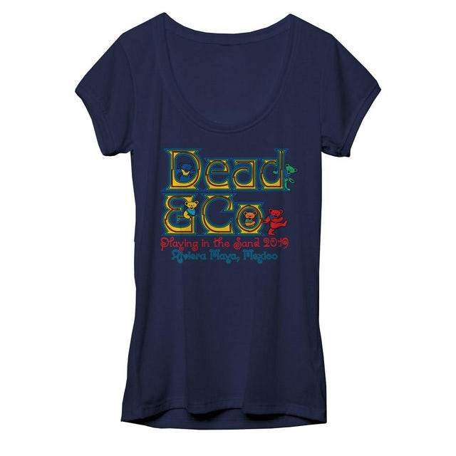 Dead & Company Playing in the Sand Rivera Maya Ladies Event Tee