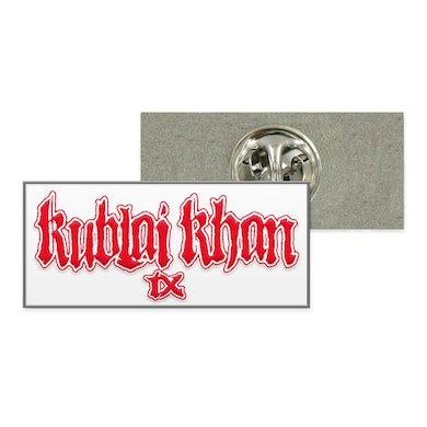 Kublai Khan TX Logo Enamel Pin