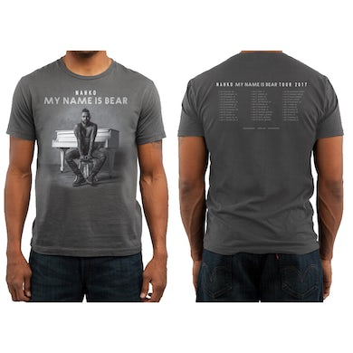 NAHKO & MEDICINE FOR THE PEOPLE My Name Is Bear Tour T-Shirt - Charcoal