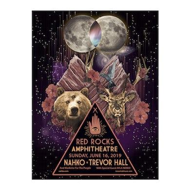 NAHKO & MEDICINE FOR THE PEOPLE 2019 Red Rocks Poster