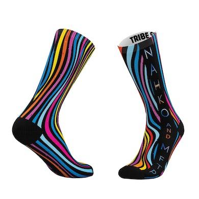 NAHKO & MEDICINE FOR THE PEOPLE Wavy Striped Socks