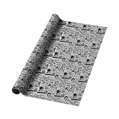 ICE NINE KILLS Silver Scream Wrapping Paper