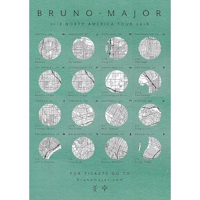 Bruno Major North America 2018 Tour Poster