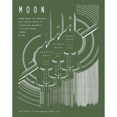 Bruno Major Moon Residency Poster