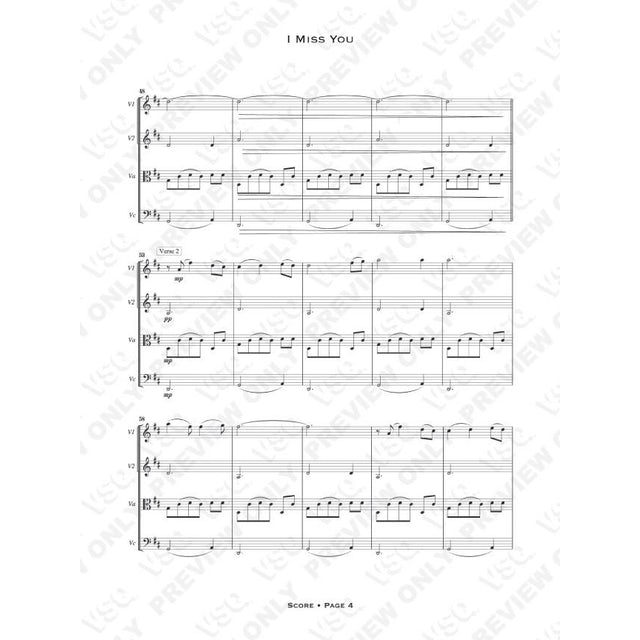 "Vitamin String Quartet Incubus' ""I Miss You"" as Arranged for VSQ (Sheet Music)"