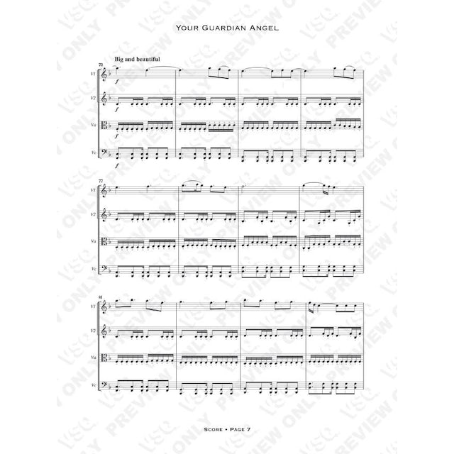 """Vitamin String Quartet Red Jumpsuit Apparatus' """"Your Guardian Angel"""" as Arranged for VSQ (Sheet Music)"""
