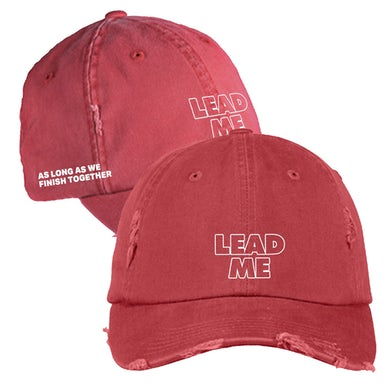"""CeeLo Green  """"Lead Me"""" Red Distressed Hat (Pre-Order)"""