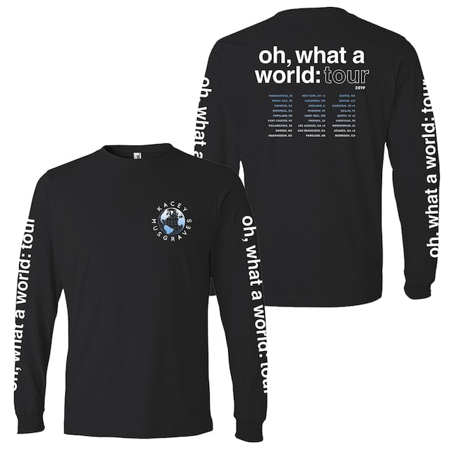 Kacey Musgraves 2019 OH, WHAT A WORLD LONG SLEEVE TOUR TEE - XS only