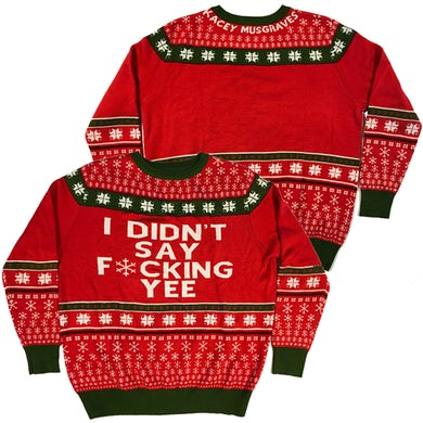 Kacey Musgraves UGLY KM XMAS HOLIDAY SWEATER