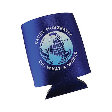 Kacey Musgraves OH, WHAT A WORLD METALLIC KOOZIE