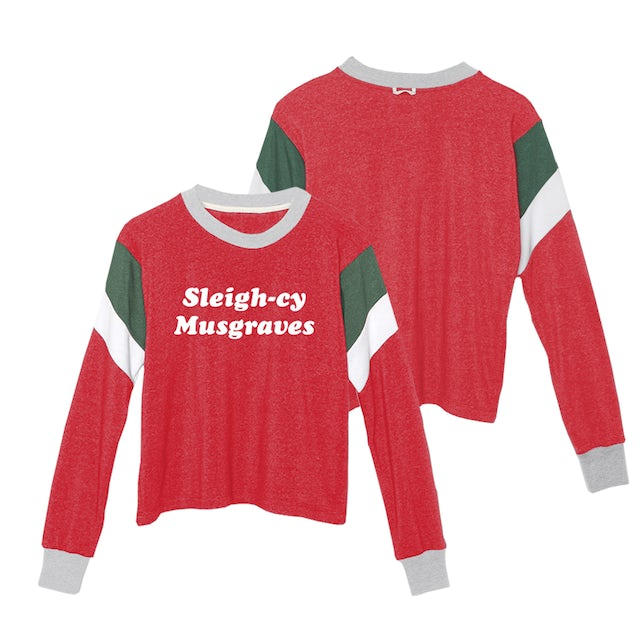 Kacey Musgraves SLEIGH-CY MUSGRAVES CROPPED SWEATSHIRT