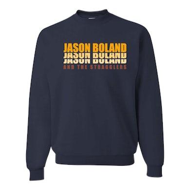 Jason Boland & The Stragglers Stacked Retro Logo Crewneck Sweatshirt