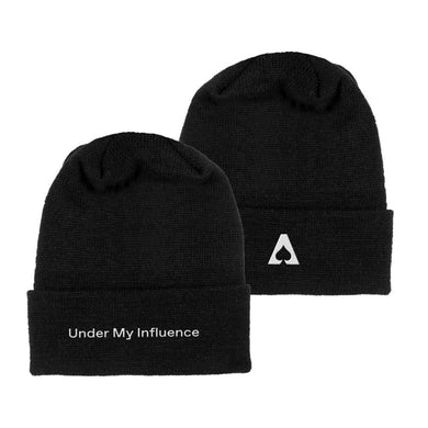 The Aces Under My Influence Knit Beanie - Black
