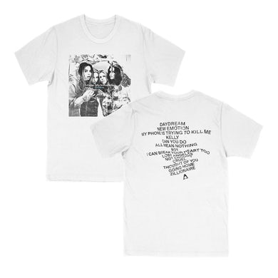 The Aces UMI Tracklist Tee - White