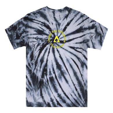 The Aces Under My Influence Tie Dye Tee - Black/White