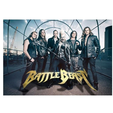 BATTLE BEAST Group Photo Textile Flag