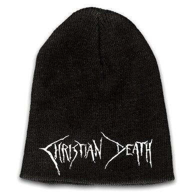 CHRISTIAN DEATH Emblem White Logo Beanie