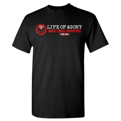 LIFE OF AGONY Beast Coast Tour Spring 2020 T-Shirt