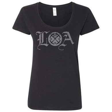 LIFE OF AGONY Logo Ladies T-Shirt
