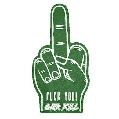OVERKILL Logo Green Foam Finger