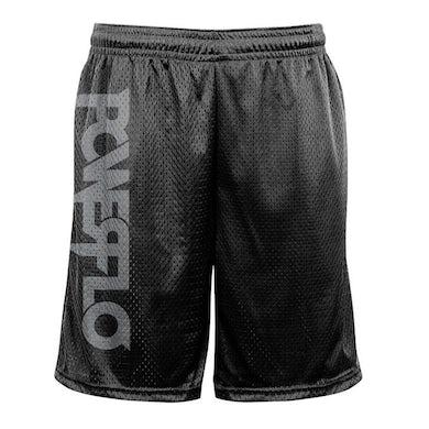 POWERFLO Silver Logo  Mesh Shorts