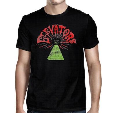 Roky Erickson Elevators Pyramid Eye Black T-Shirt