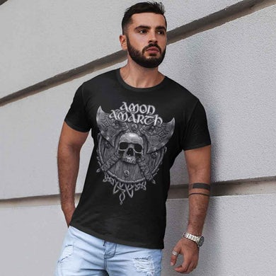 Amon Amarth Grey Skull T-Shirt