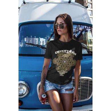 Amorphis Rotonde Date Back Ladies Black T-Shirt