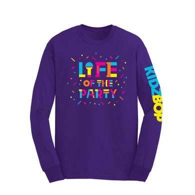 Life Of The Party Purple Long Sleeve Youth Tee