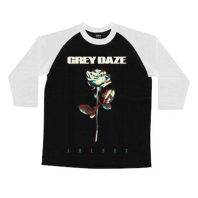 Grey Daze Rose Baseball T-Shirt