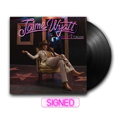 Jaime Wyatt Neon Cross Signed LP (Vinyl)