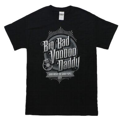 Big Bad Voodoo Daddy  Vintage Microphone T-shirt
