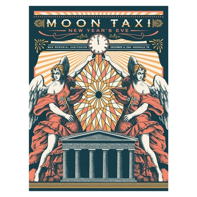 Moon Taxi Nashville, TN Poster - NYE 2014