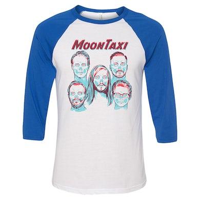 Moon Taxi X-Ray Raglan - Blue