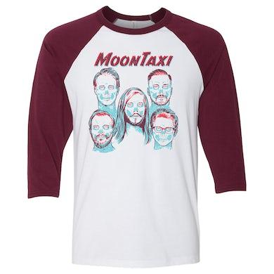 Moon Taxi X-Ray Raglan - Maroon