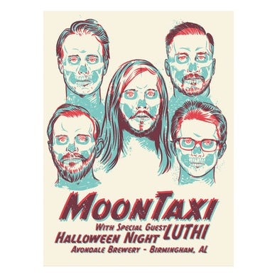 Moon Taxi Halloween 2019 Poster