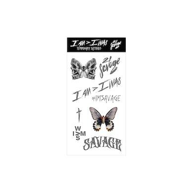 21 Savage I AM > I WAS Temp Tattoo