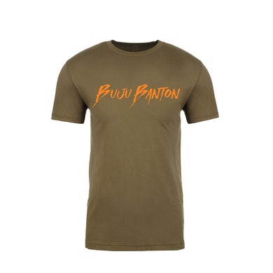 Buju Banton Military Green Signature T-Shirt