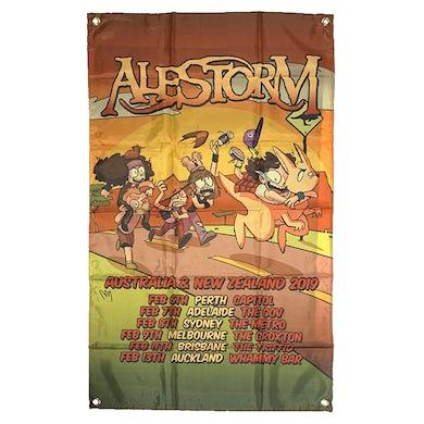 ALESTORM - 'Australian Tour' Flag