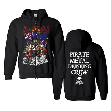 ALESTORM - 'Pirate Metal Drinking Crew' Zip-Up Hoodie