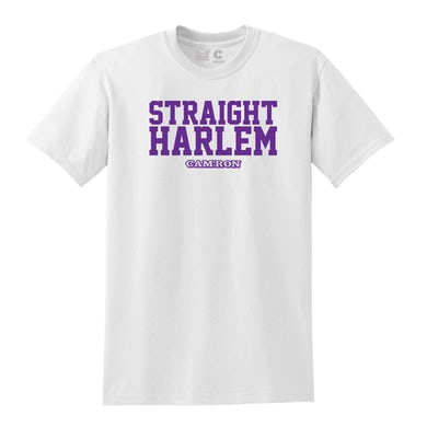Cam'Ron Straight Harlem Tee in White + Digital Album Download